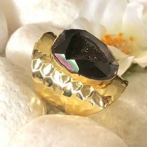 Jewelry - ✨BLACK DRUZY GEODE RING🛍🎀